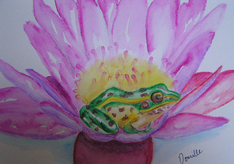 Frog Painting - Frog by Donielle Boal