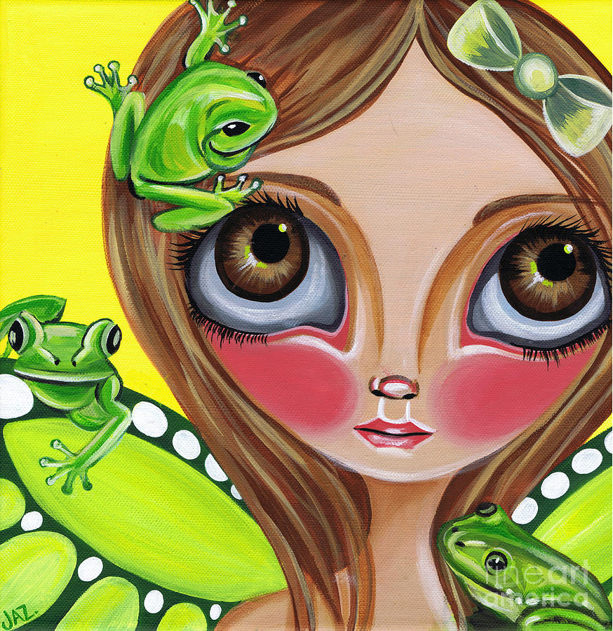 Frog Painting - Frog Fairy by Jaz Higgins