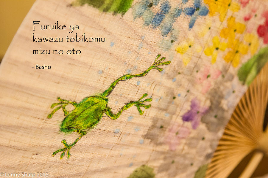 Japan Photograph - Frog - Haiku by Leonard Sharp