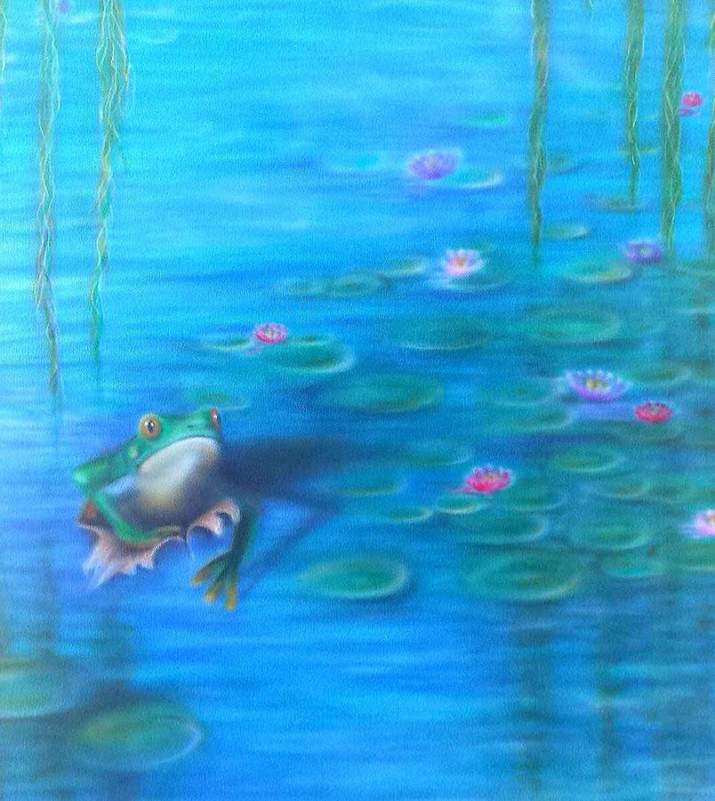 Frog  Painting by Kyla Vermeulen