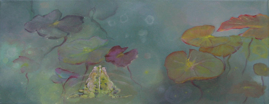 Pont Painting - Frog Pond by Eve Corin