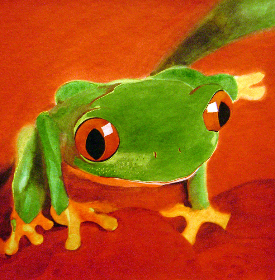 Watercolor Painting - Frog by Shannon Gates