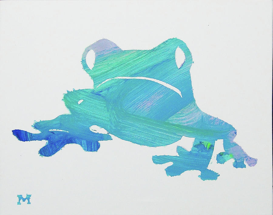Frog Painting - Froggie Friend by Candace Shrope
