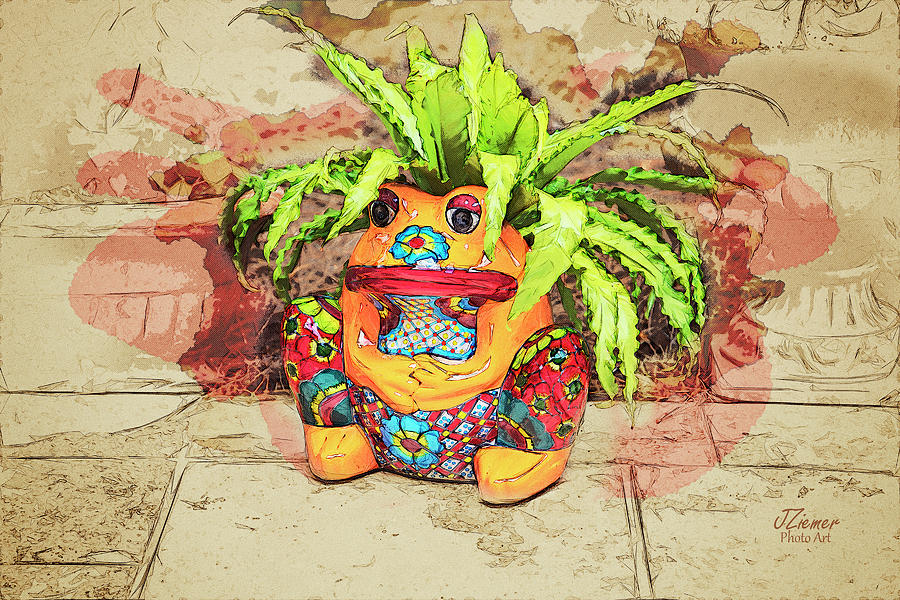 Plant Photograph - Froggy 1 by Jim Ziemer