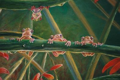 Frogs Print by Pravit Rojawat