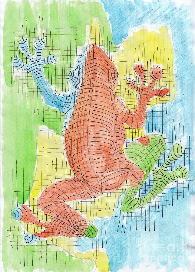 Frog Painting - Frogsy by Nyna Niny