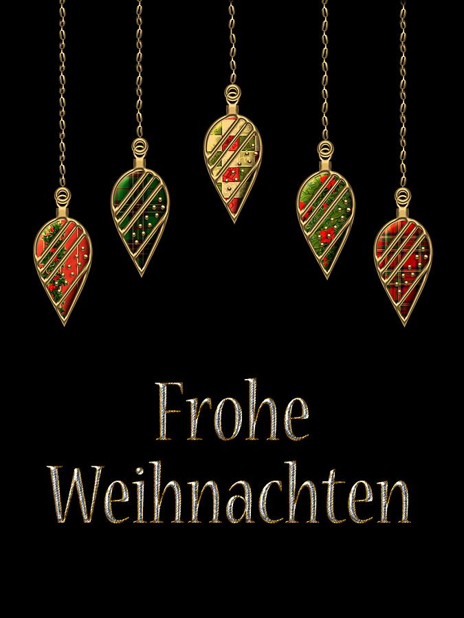 red digital art frohe weihnachten german merry christmas by movie poster prints