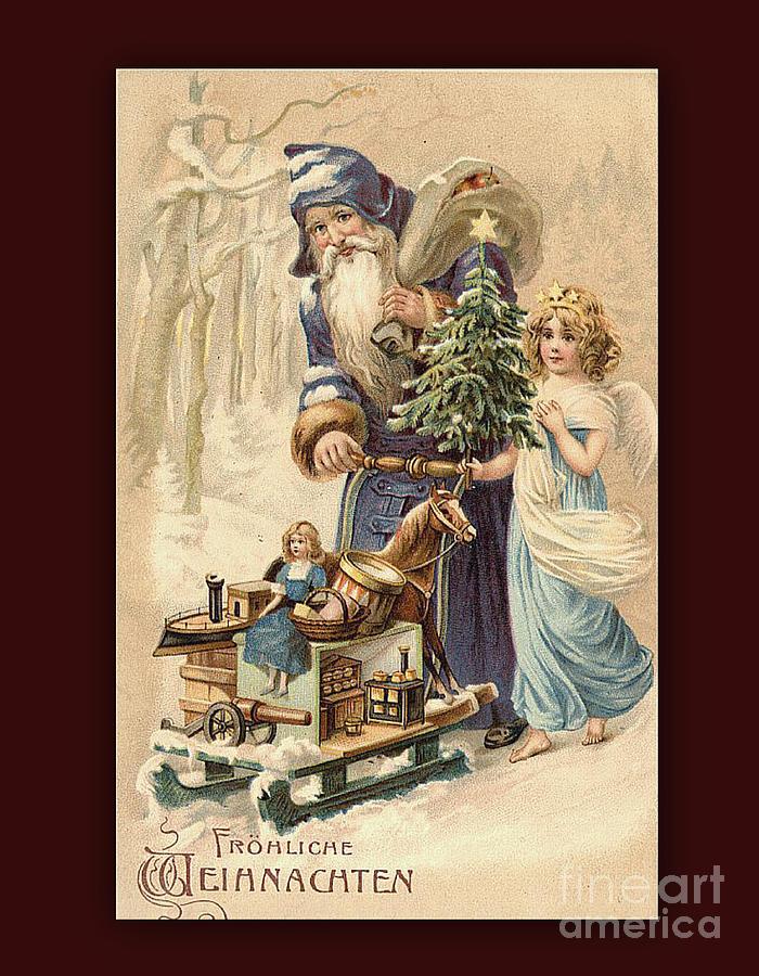 Vintage Bilder Weihnachten.Frohe Weihnachten Vintage Greeting By Melissa Messick