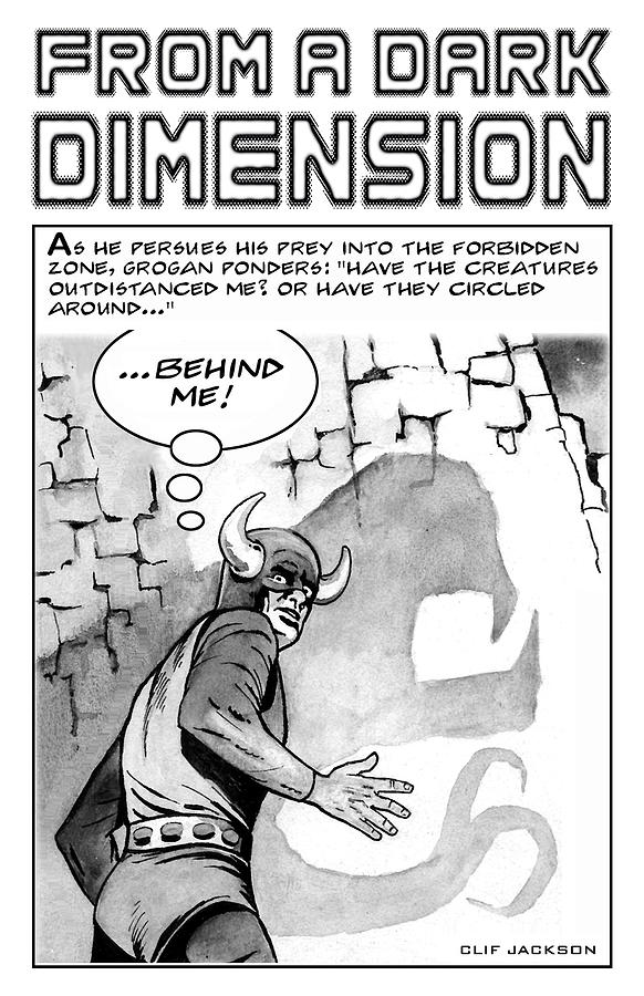 Clif Jackson Art Drawing - From A Dark Dimension by Clif Jackson