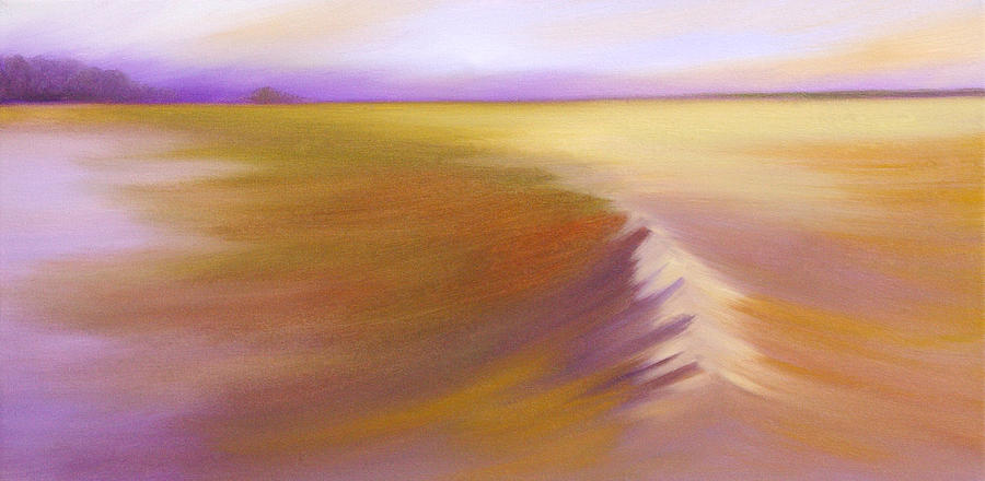Prairie Painting - From A Distance by Bente Hansen