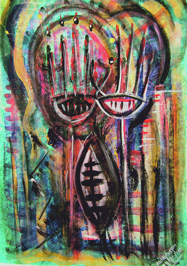Collective Subconscious Painting - From Deep Within by Mimulux patricia no No