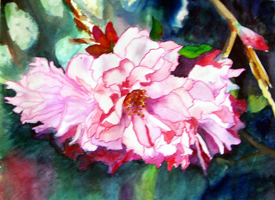 Watercolor Painting - From Judys Garden by Priti Lathia