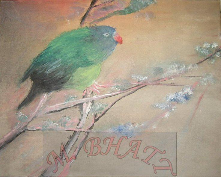 Nature Painting - From Nest To Branch by M Bhatt