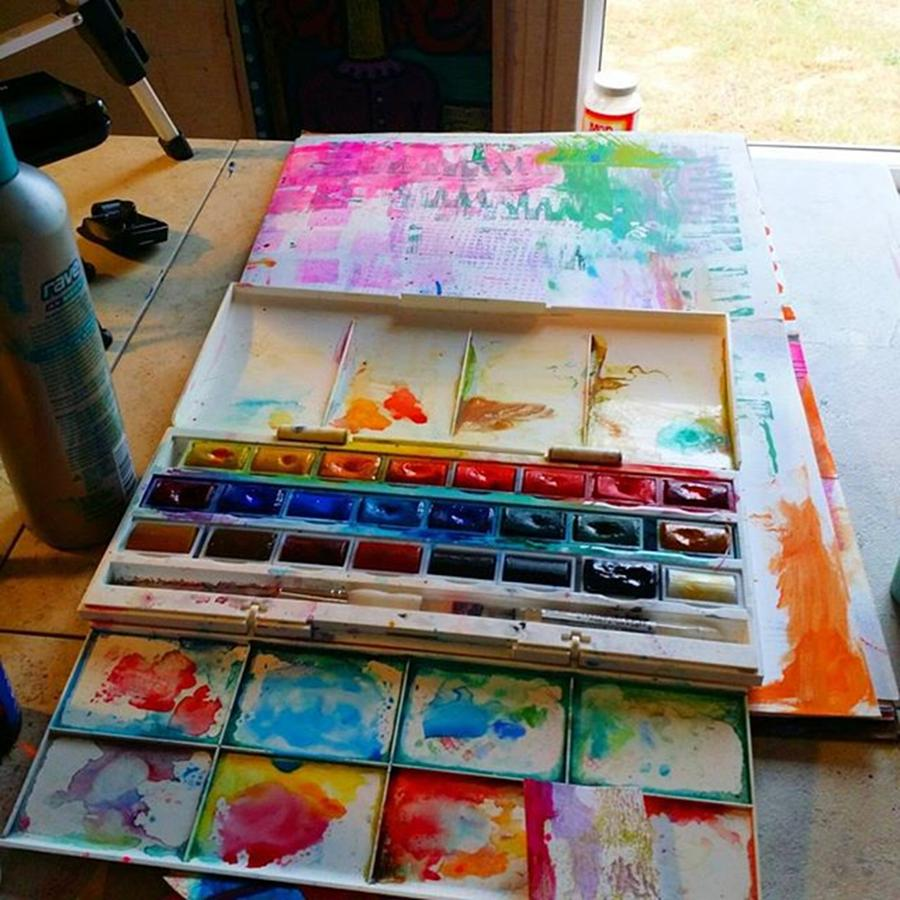 Palette Photograph - From #palette  To #paper ..adding Some by Robin Mead