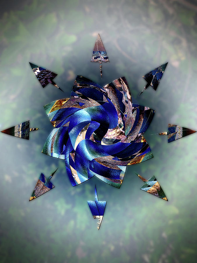 Flower Digital Art - From Seeds Of Kaos by Another Dimension Art