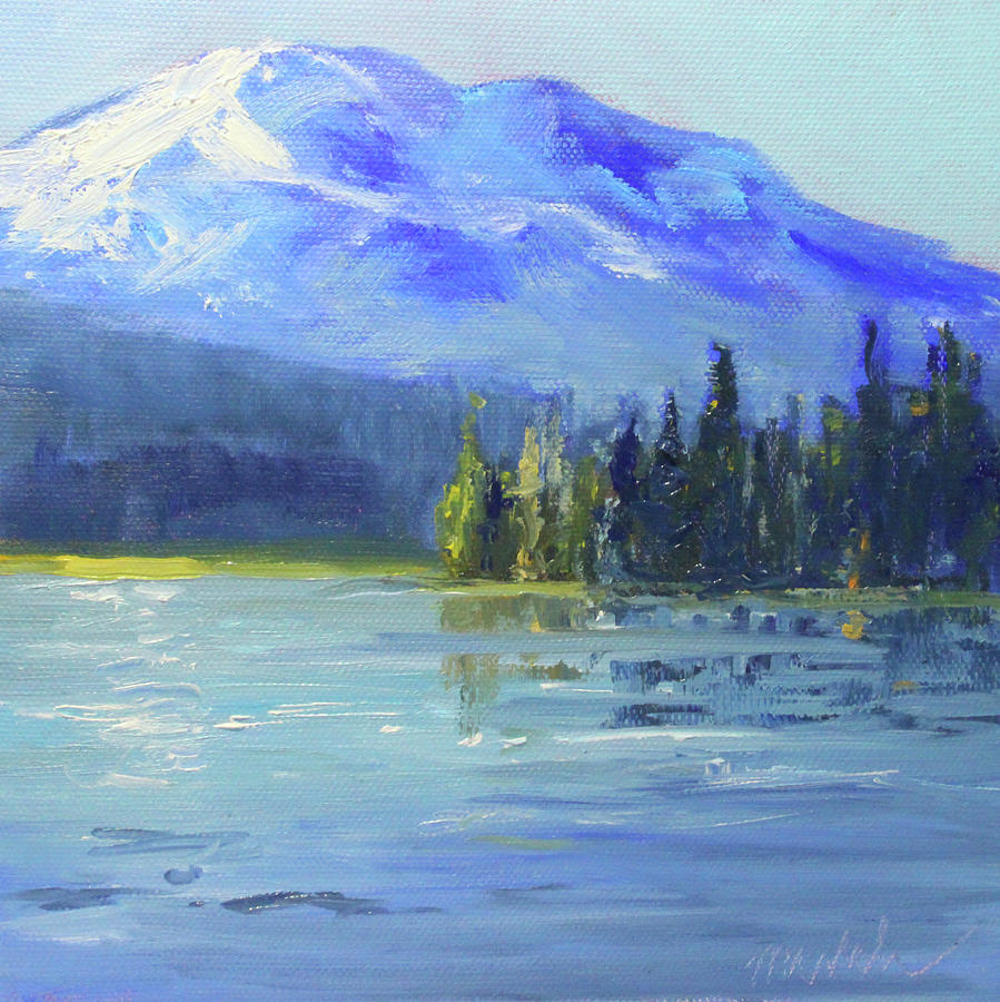 Oil Painting Painting - From Sparks Lake by Nancy Merkle