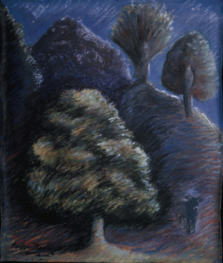 Tree Painting - From The Bones Of Ymir Creation Myth by Barbara Nesin