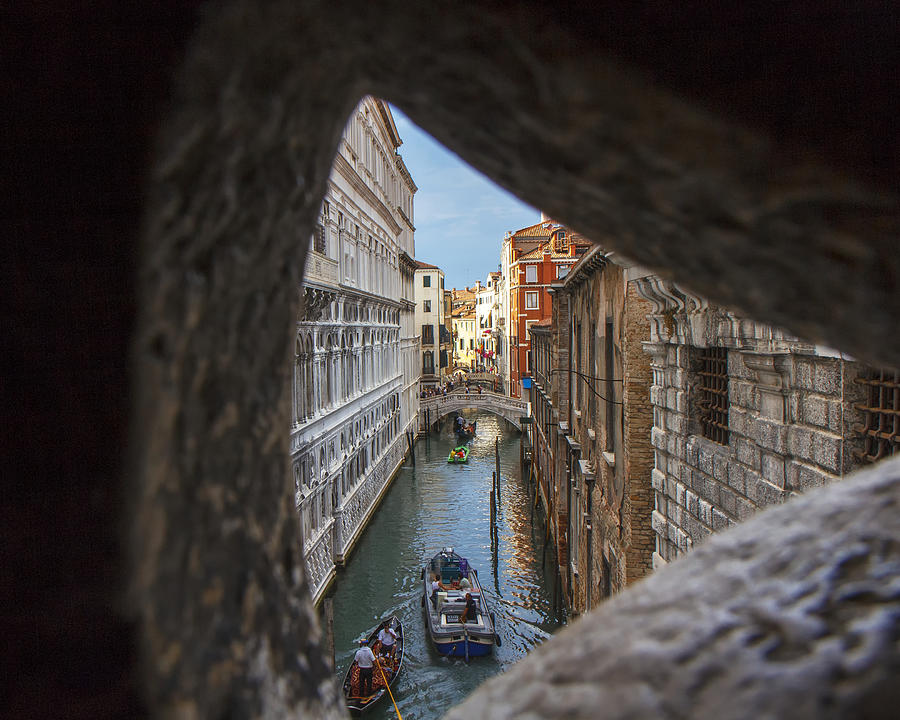 Italy Photograph - From The Bridge Of Sighs Venice Italy by Rick Starbuck