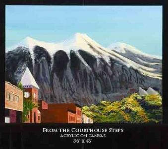 Landscape Painting - From The Courthouse Steps by Robert Newport
