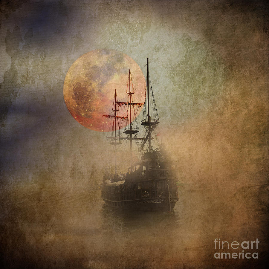 Ship Photograph - From The Darkness by Barbara Dudzinska