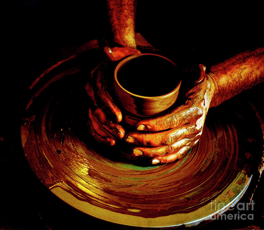 Pottery Photograph - From The Hands Of An Artist by Steven Digman