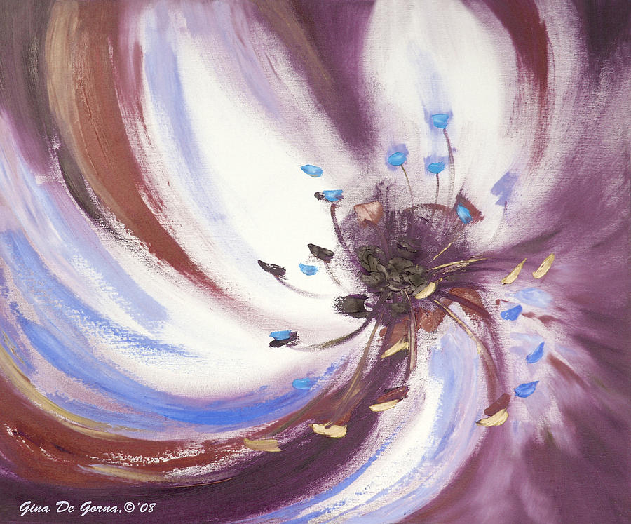 Brown Painting - From The Heart Of A Flower Brown 2 by Gina De Gorna
