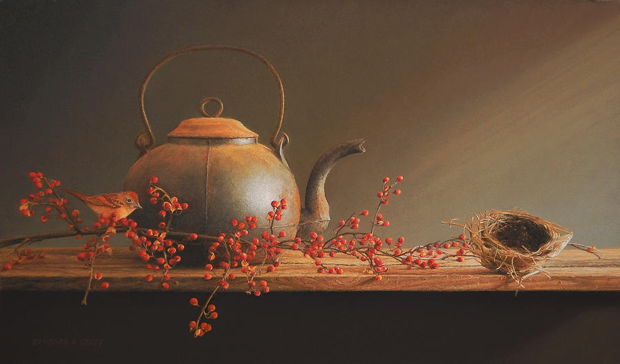 Kettle Painting - From The Hearth by Barbara Groff