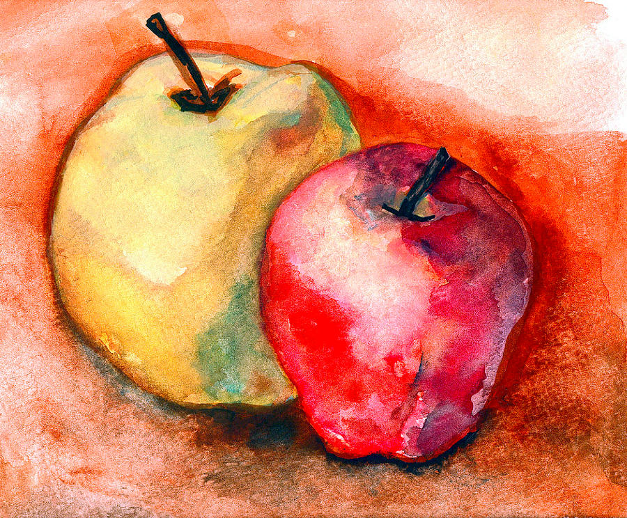 Apples Painting - From The Orchards by Amira Najah Whitfield