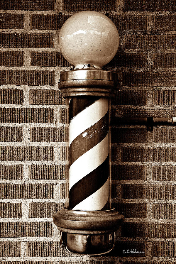 Barber Photograph - From The Past - Sepia by Christopher Holmes