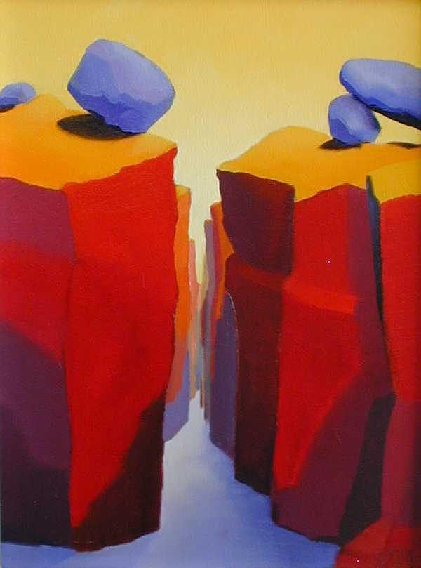 Landscape Painting - From The Red Canyon Series by R Raya