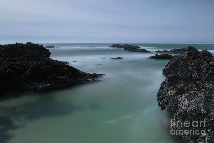 Ocean Photograph - From The Top Of A Rock by Masako Metz
