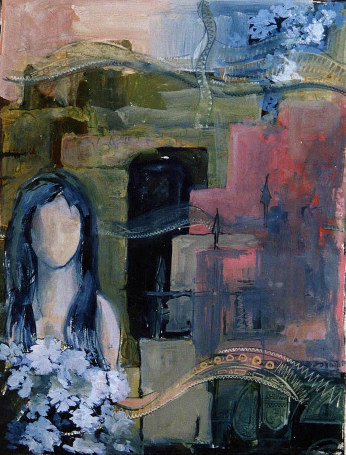 Girl Painting - from The Wasteland by Arindam Dasgupta
