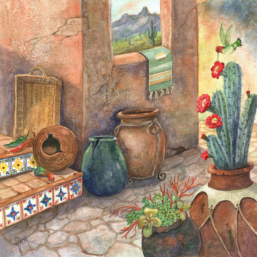 Mexican Pottery Painting - From This Earth by Marilyn Smith