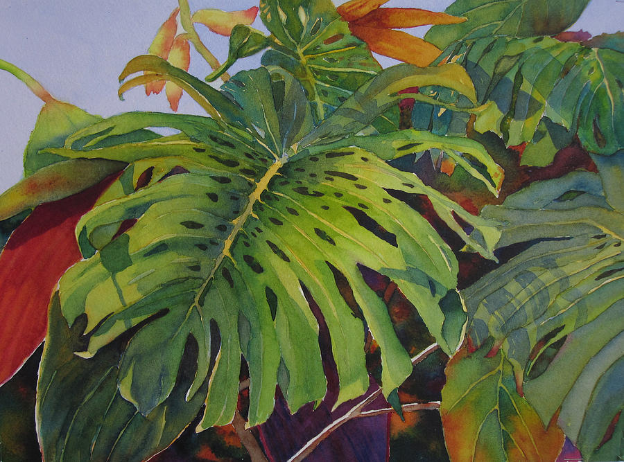 Fronds Painting - Fronds And Foliage by Judy Mercer
