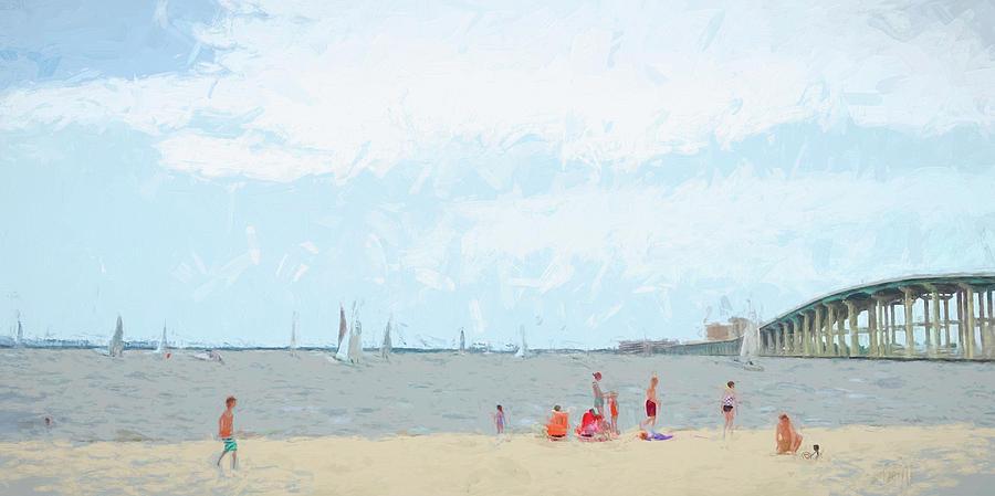 Front Beach Ocean Springs MS by Rebecca Korpita