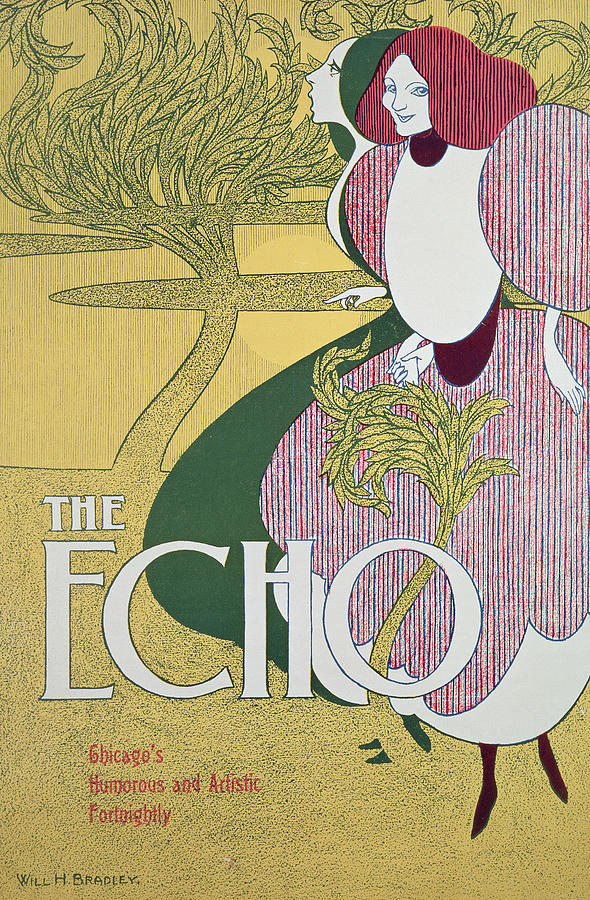 Echo Painting - Front Cover Of The Echo by William Bradley