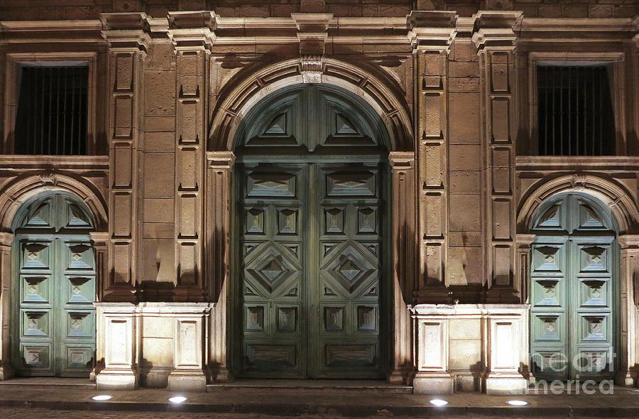 Front Doors San Francisco Church San Salvador by Vivian Christopher