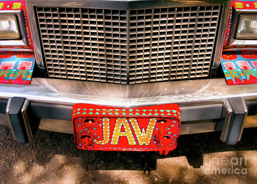 Car Photograph - Front Of The Car - Grill And Plate by Kathleen K Parker