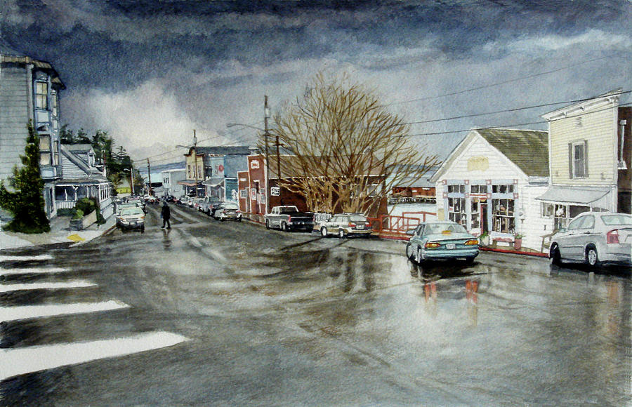 Coupeville Painting - Front by Perry Woodfin