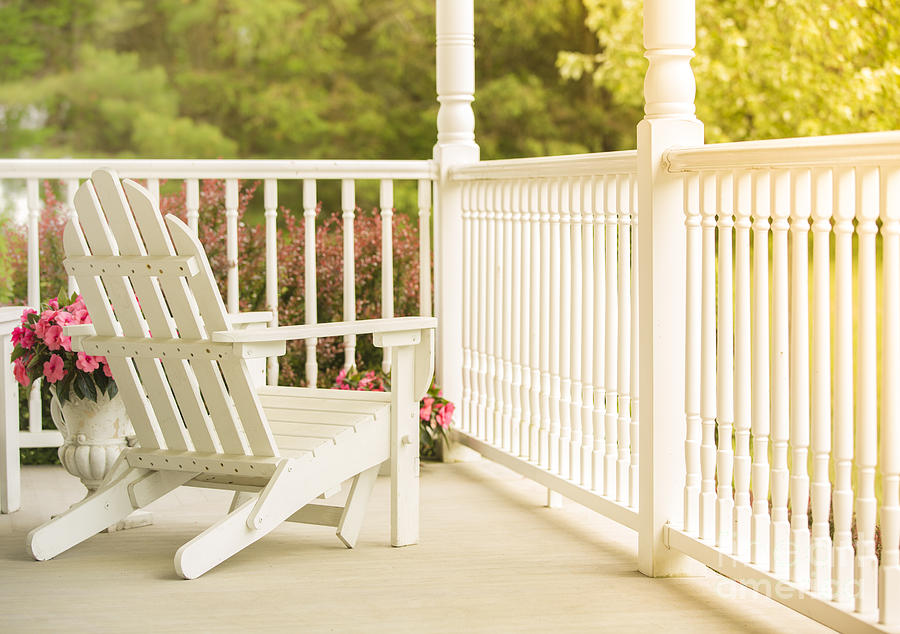 Porch Photograph - Front Porch In Summer by Diane Diederich