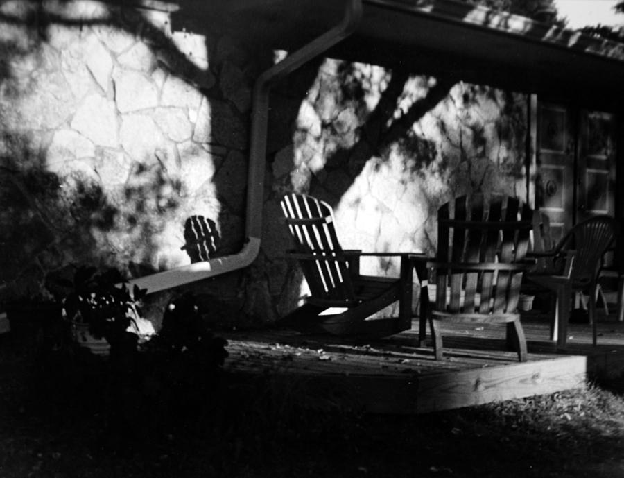 Black And White Photograph - Front Porch by Michael Ringwalt