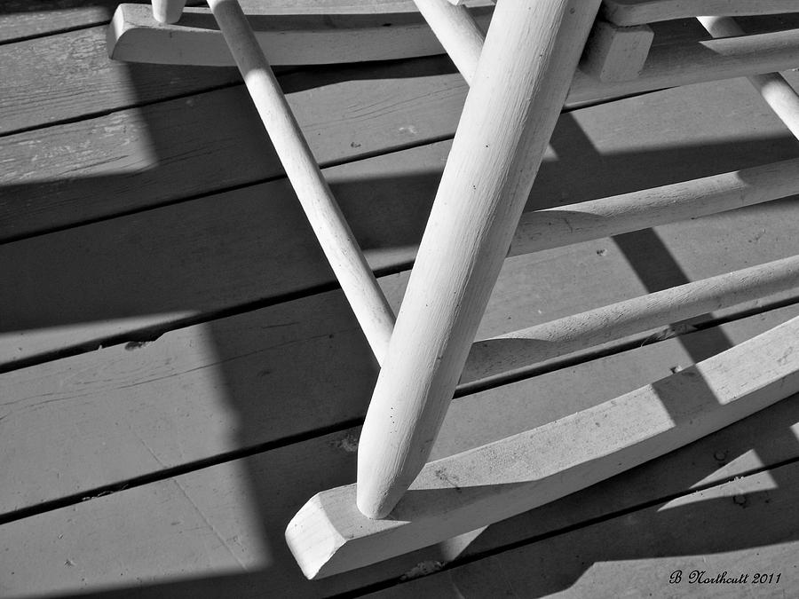 Porch Photograph - Front Porch Rocker by Betty Northcutt