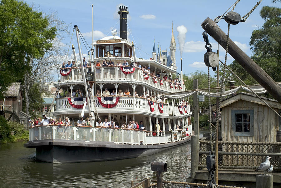 Disney World Photograph - Frontierland Riverboat by Charles  Ridgway