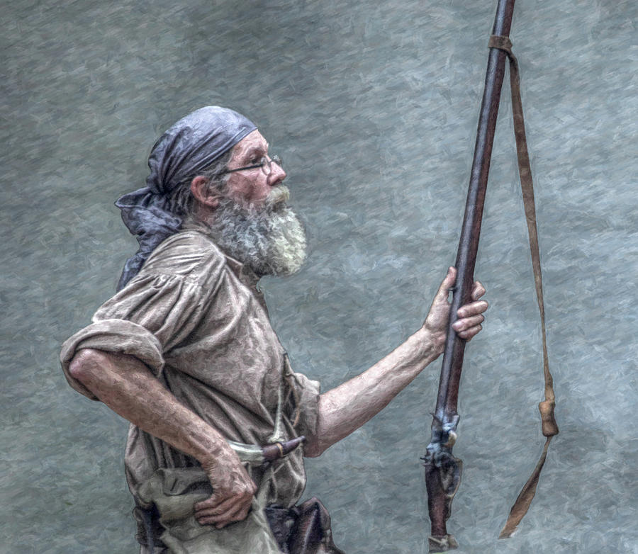 Cook Forest Digital Art - Frontiersman Face Of Time by Randy Steele