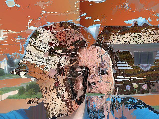Abstract Mixed Media - Frontyards by Ian Richard  Laws