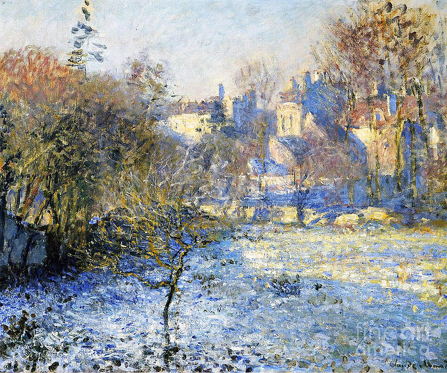 Frost Painting - Frost by Claude Monet