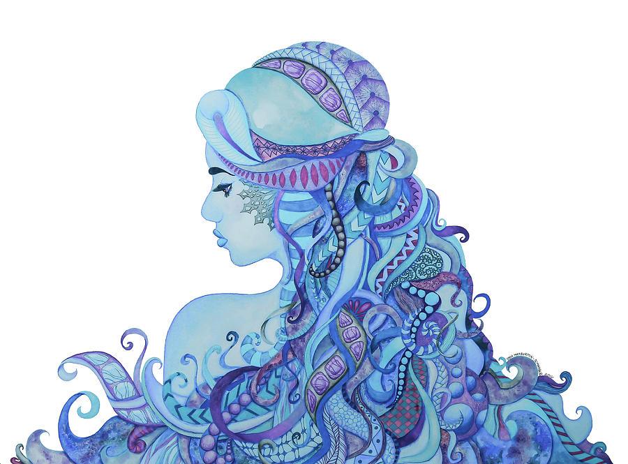 Fairy Drawing - Frost Fairy by Tara Warburton-Schwaber