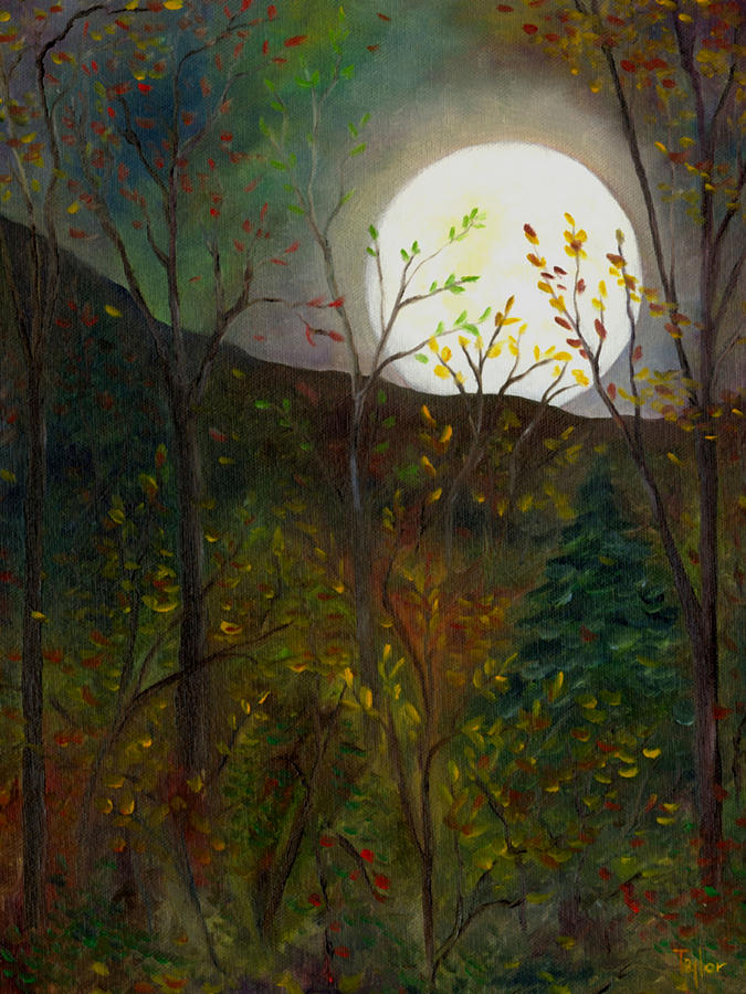 Autumn Painting - Frost Moon by FT McKinstry