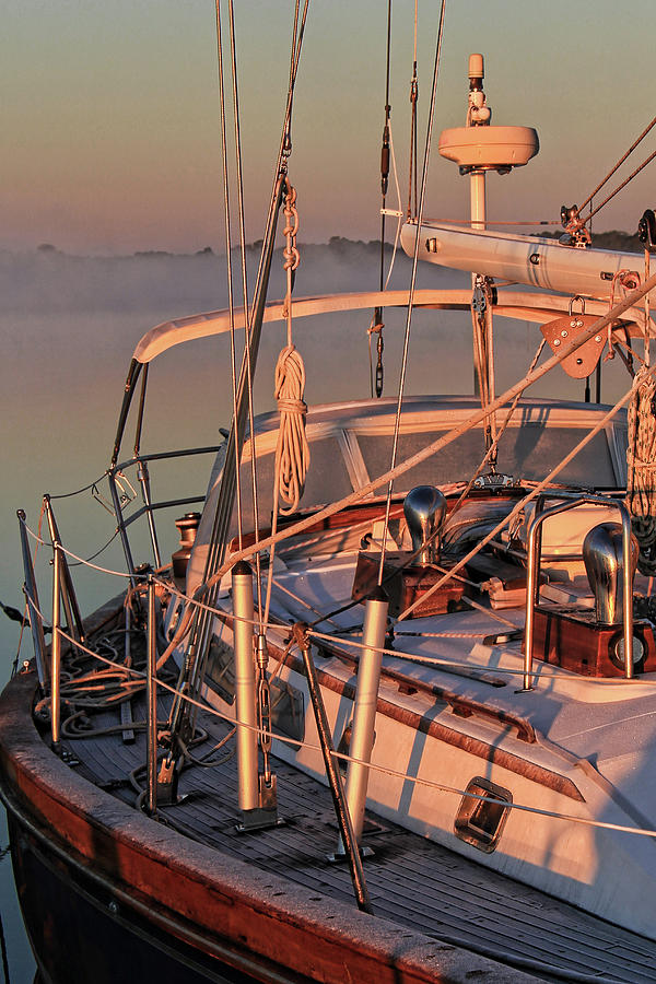 Frost Photograph - Frost On The Boat by Timothy Gass
