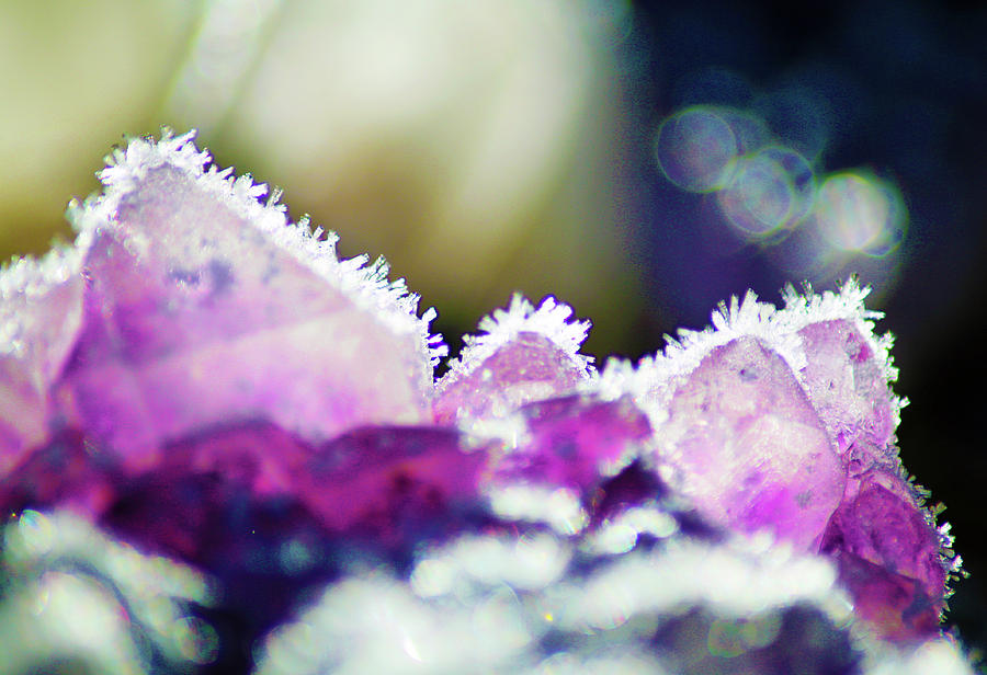 Crystals Photograph - Frosted Amethyst Crystals by Ave Guevara